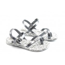 Детски бразилски сандали Ipanema 81204 бяло-сиви 25/30