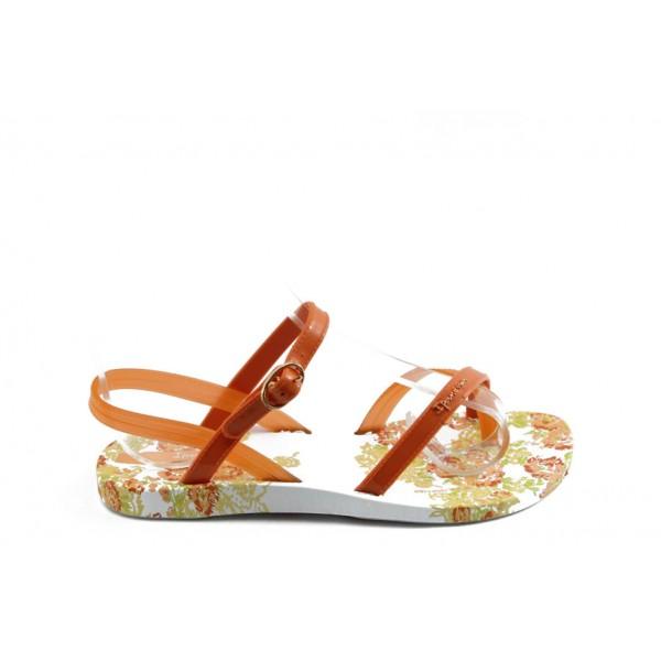 Детски бразилски сандали Ipanema 81204 бяло-оранжеви 31/35