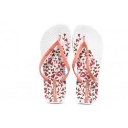 Дамски бразилски чехли Ipanema 81433 бяло-коралово