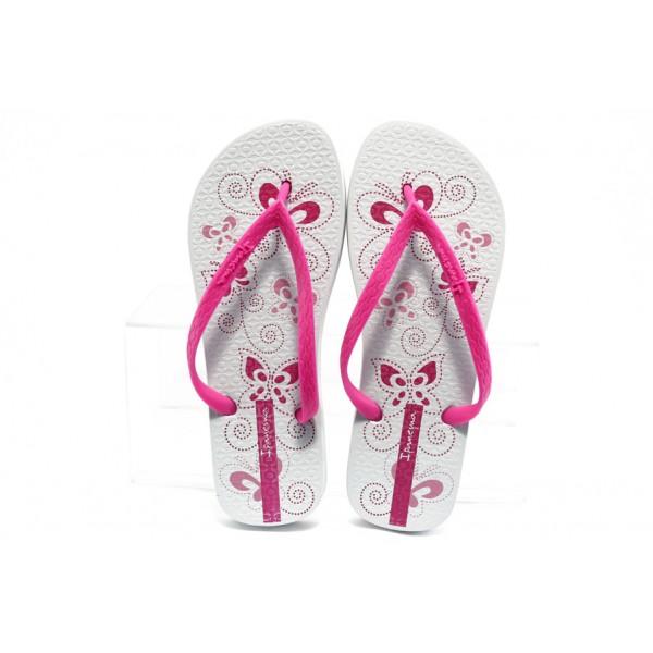 Дамски бразилски чехли Ipanema 81432 бяло с циклама