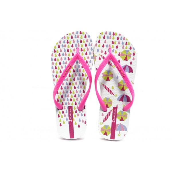 Дамски бразилски чехли Ipanema 81259 бяло-розови