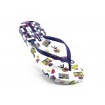 Дамски бразилски чехли Ipanema 81259 бяло-лилави