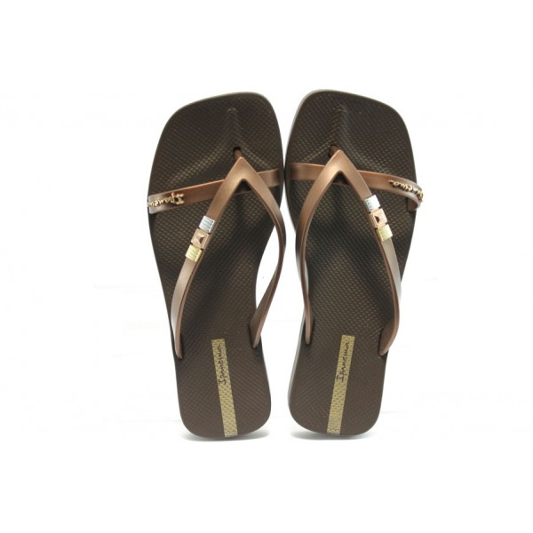 Дамски бразилски чехли Ipanema 81308 кафяви