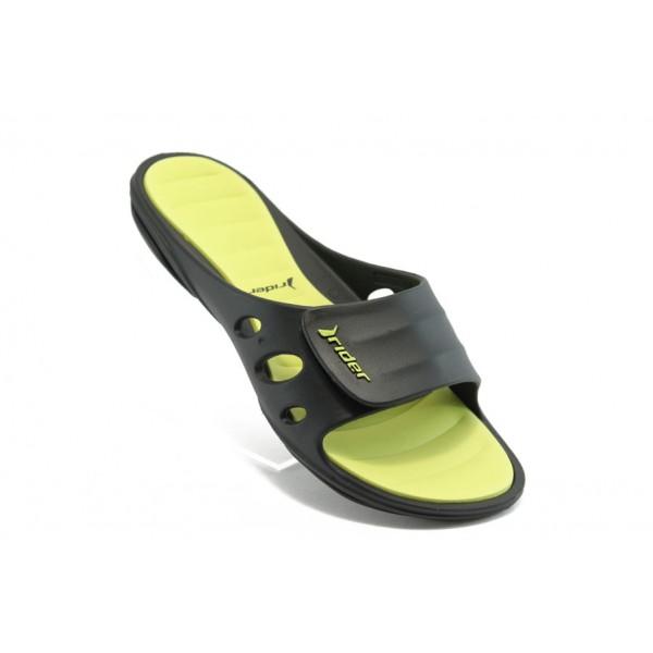 Юношески анатомични чехли с цяла лента Rider 81151 зелени