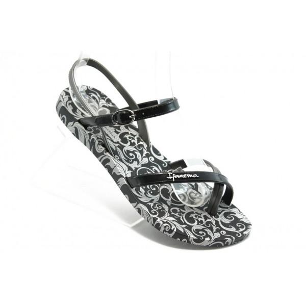 Дамски бразилски сандали Ipanema 81193 черно-сиви