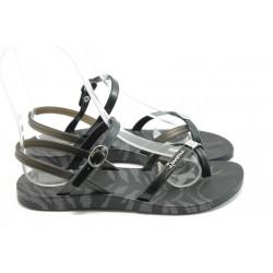 Дамски бразилски сандали Ipanema 81309 черно-сиви