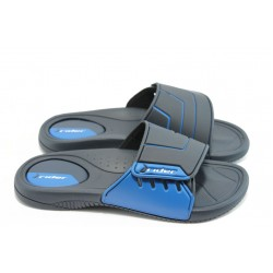 Мъжки бразилски чехли с лепенка Rider 81144 черно-сини
