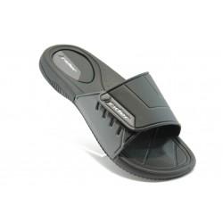 Мъжки бразилски чехли с лепенка Rider 81144 черно-сиви