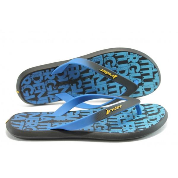 Мъжки бразилски чехли Rider 81231 черно-синьо