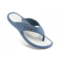 Мъжки бразилски анатомични чехли Rider 81147 синьо-сиви
