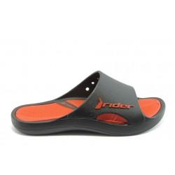 Мъжки бразилски анатомични чехли Rider 81148 черно-червени