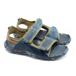 Мъжки бразилски анатомични сандали Rider 81149 сини