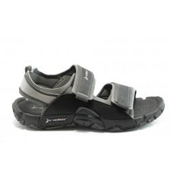 Мъжки бразилски анатомични сандали Rider 81149 черни