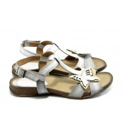Дамски анатомични сандали ИО 1392 бяла пеперуда