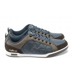 Мъжки спортни обувки Jump 1740 синьо-кафяв