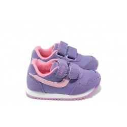 Бебешки маратонки с лепенки МА 84819 лилав