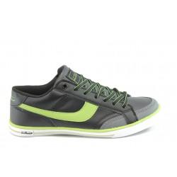 Юношески маратонки Bulldozer 3130 черно-зелени