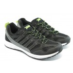 Мъжки маратонки с връзка Jump 9813 черно-сиви