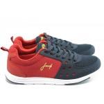 Мъжки маратонки с връзки Jump 8813 червено-сини