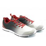 Мъжки маратонки в преливащ цвят Runners 13-06 черно-сиви