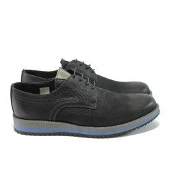 Мъжки анатомични спортни обувки с връзки МЙ 83150 черен