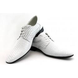 Мъжки елегантни обувки с връзки ЛД 600 бяло