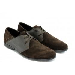 Мъжки спортно - елегантни обувки КО 15-043 кафе