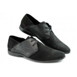 Мъжки спортно - елегантни обувки КО 15-043 черно