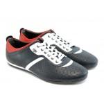 Мъжки спорни обувки с връзки КО 38264 синьо