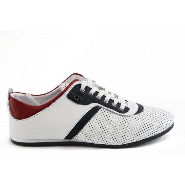 Мъжки спорни обувки с връзки КО 38264 бял