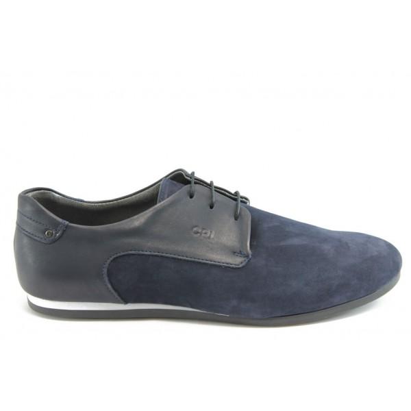 Мъжки спорно - елегантни обувки КО 38-4380 сини