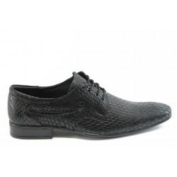 Мъжки елегантни обувки с връзки ЛД 600 черно