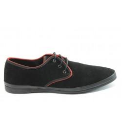 Мъжки обувки с връзки АК 100 черно