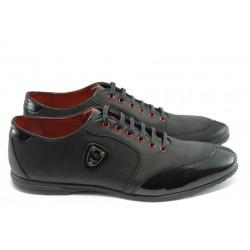 Мъжки спортни обувки с връзки АК 592 черно