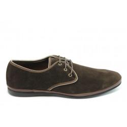 Мъжки обувки с връзки АК 100 кафе