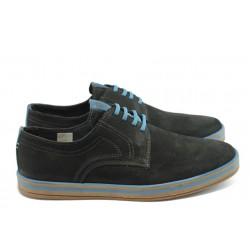 Мъжки анатомични спортни обувки с връзки МЙ 83150 черни