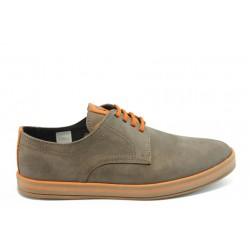 Мъжки анатомични спортни обувки с връзки МЙ 83150 св. кафе