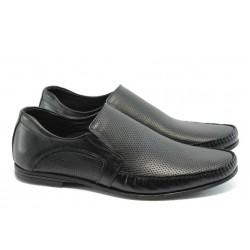Мъжки обувки без връзки ЛД 309 черни