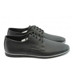 Мъжки спортно-елегантни обувки ФЯ 027 черни