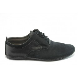 Мъжки анатомични спортни обувки с връзки МИ 115 черни