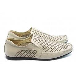 Мъжки обувки без връзки ЛД 622 бежови