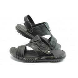 Мъжки чехли-сандали МИ 1910 черно