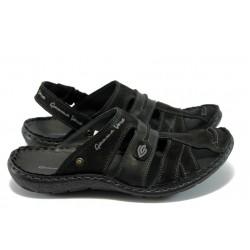 Мъжки анатомични сандали-чехли МЙ 71168 черни