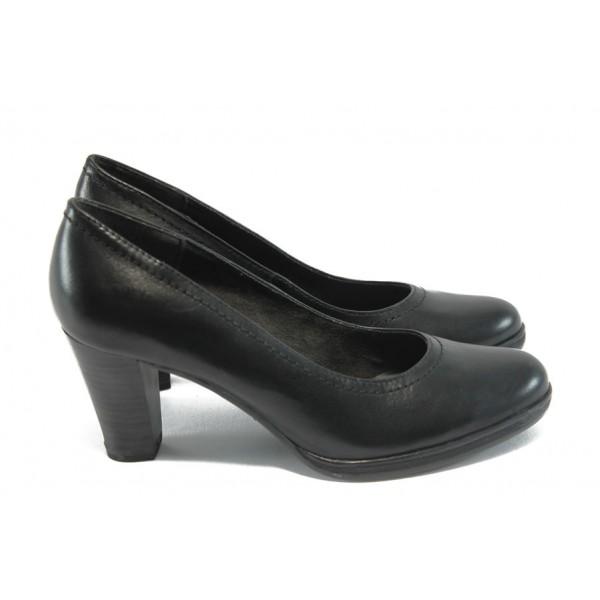 Немски дамски обувки на висок ток Tamaris 1-22401-23 черни ANTISHOKK