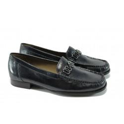 Дамски обувки тип мокасина Caprice 9-24243-23 тъмно сини