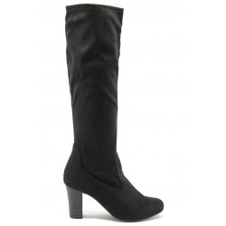 Елегантни дамски ботуши на висок ток Caprice 9-25536-23 черни