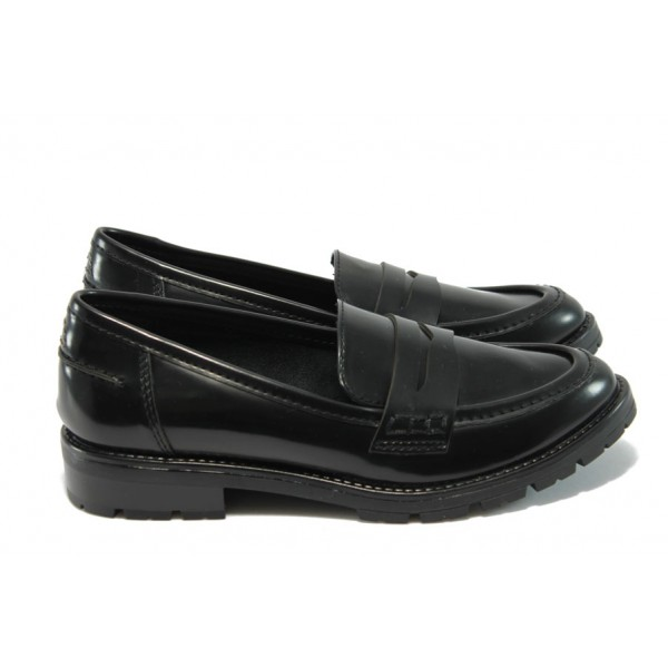 "Дамски немски обувки с ""мемори"" пяна Marco Tozzi 2-24605-33 черен лак"