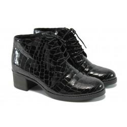 Дамски боти на ток Remonte R8681-01 черно ANTISHOKK