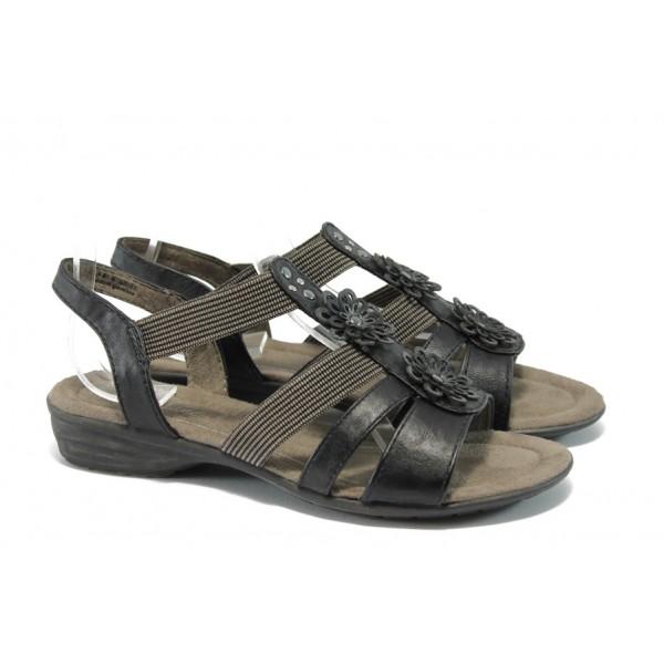 Равни дамски сандали Jana 8-28162-24 черен