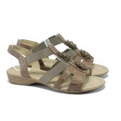 Равни дамски сандали Jana 8-28162-24 кафяв